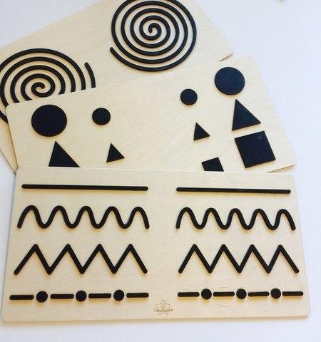Трафареты графомоторные - объёмные для одновременного рисования двумя руками, Сенсорика