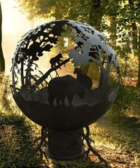 Чаша для костра Три медведя, стальная, диаметр 100 см