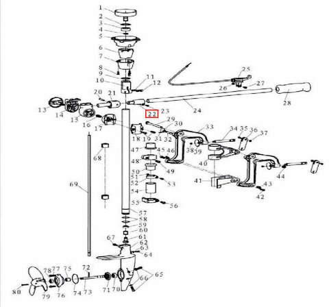 Втулка румпеля для лодочного мотора T3,5 Sea-PRO