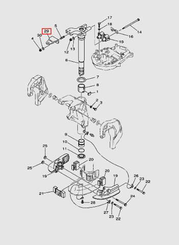 Скоба для лодочного мотора T40 Sea-PRO (20-29)