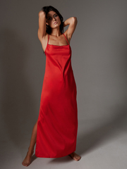 Сорочка длинная красная Lilit
