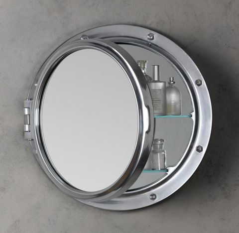 Royal Naval Porthole Mirrored Medicine Cabinet