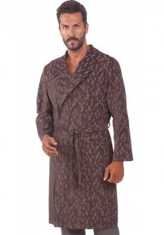 Мужской халат из мелкого вельвета