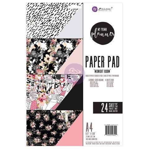 Набор  двусторонней бумаги Prima- Midnight Bloom - 21 х30см  -24л.
