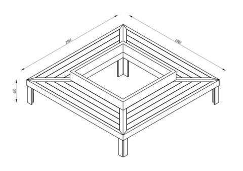 Скамья четырёхугольная СИТИ