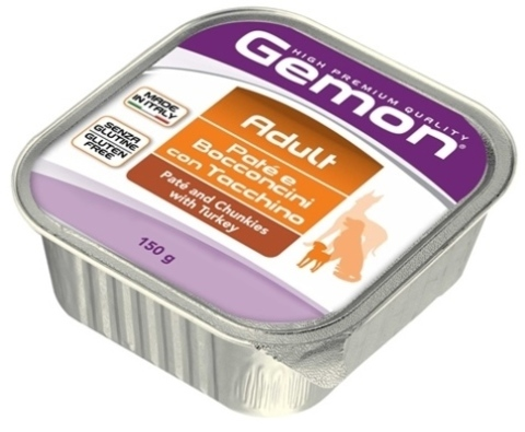Gemon Dog Adult Pate & Chunkies with Turkey