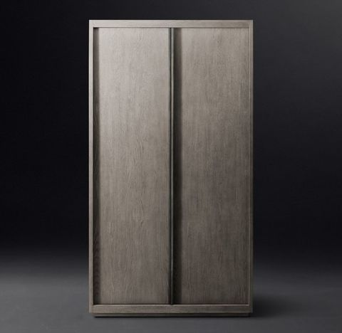 Bezier Panel Double-Door Cabinet