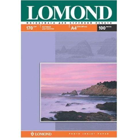 Двусторонняя матовая фотобумага Lomond для струйной печати, A4, 170 г/м2, 100 листов (0102006)