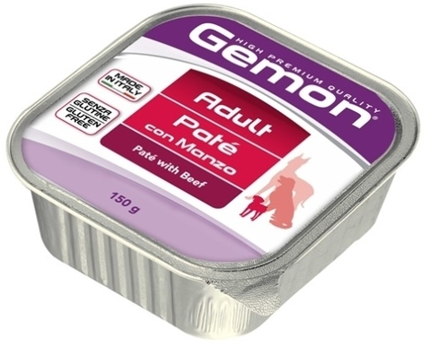 Gemon Dog Adult Pate with Beef