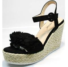 Обувь эспадрильи женские Seastar YQ213black.