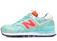 Кроссовки Женские New Balance 574 Turquoise Coral White