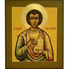 Святой Пантелеймон Целитель. Рукописная икона.