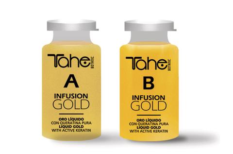 BOTANIC INFUSION GOLD A+B 2 x 10 ml Масло для укрепления и восстановления поврежденных волос с жидким золотом и кератином 2 x 10 мл