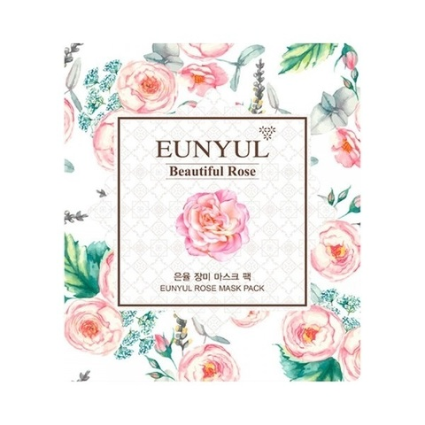Eunyul Маска для лица с экстрактом розы Rose Mask Pack 3шт