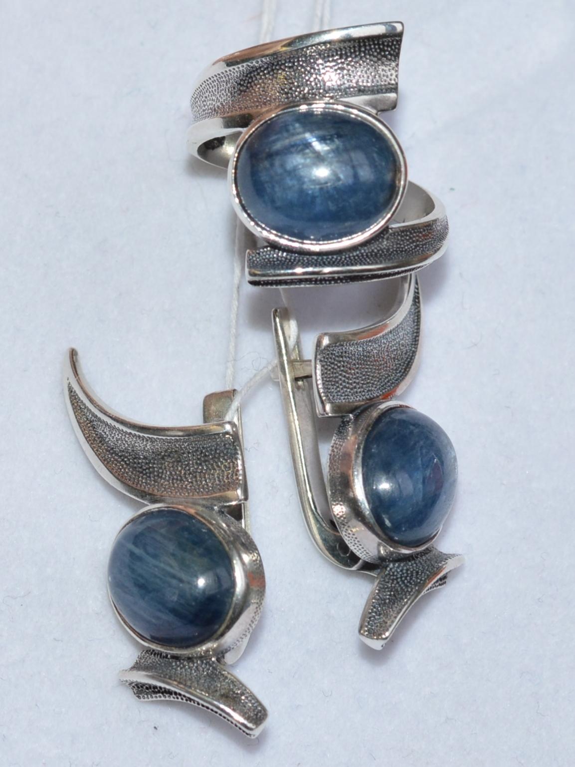 Энрика (кольцо + серьги из серебра)