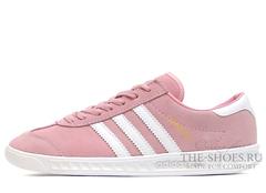 Кроссовки Женские Adidas Hamburg Suede Pink White