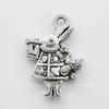 """Подвеска """"Белый Кролик"""" 20х15 мм (цвет - античное серебро)"""