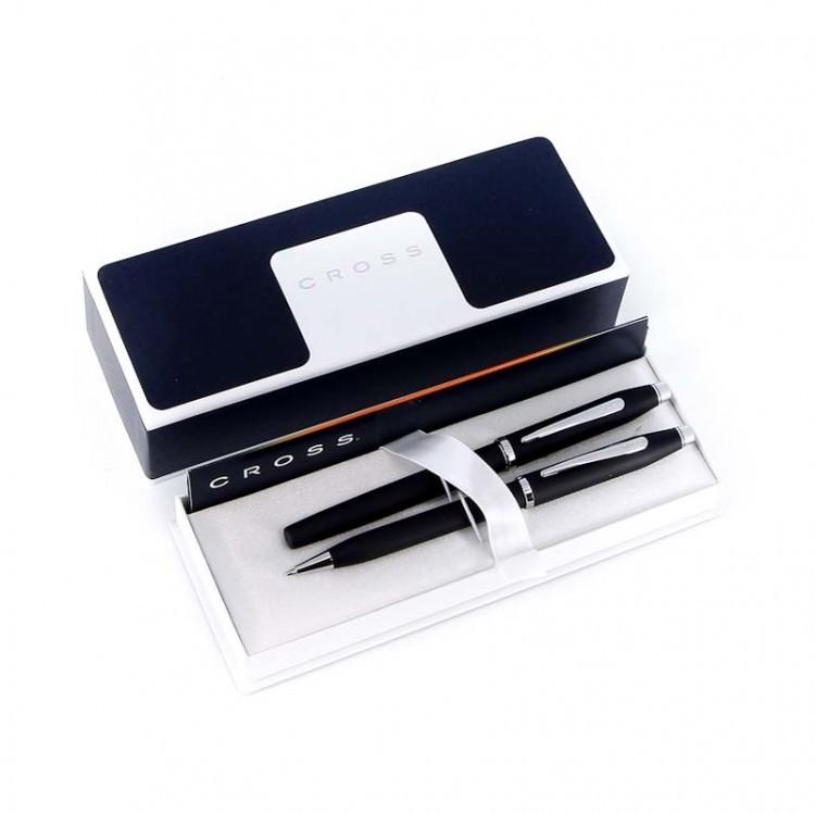 Набор подарочный Cross Century II - Black, шариковая ручка + перьевая ручка