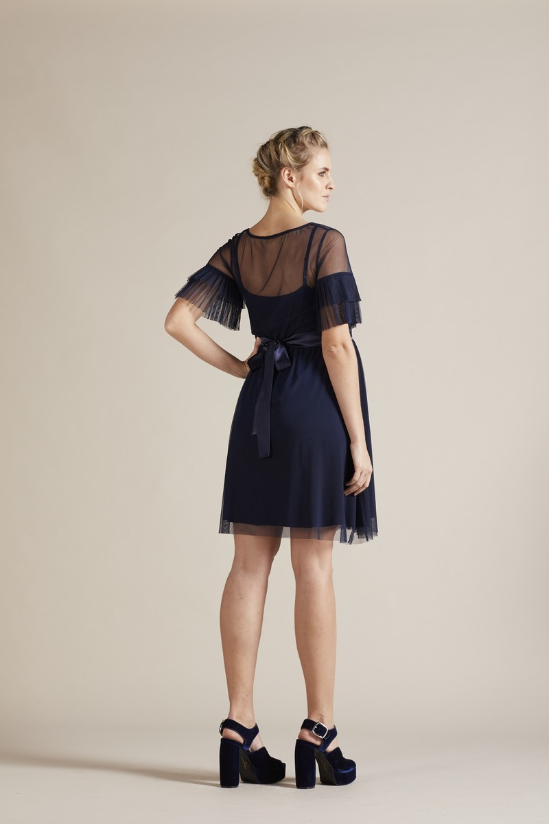 Платье 09782 темно-синий