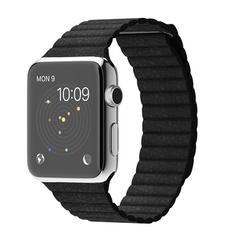 Часы Apple Watch 42мм (черный кожаный с магнитной застежкой)