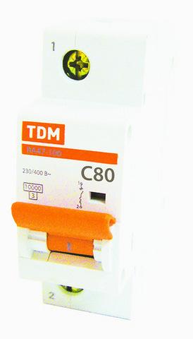 Авт. выкл. ВА47-100 1Р 63А 10кА х-ка D TDM