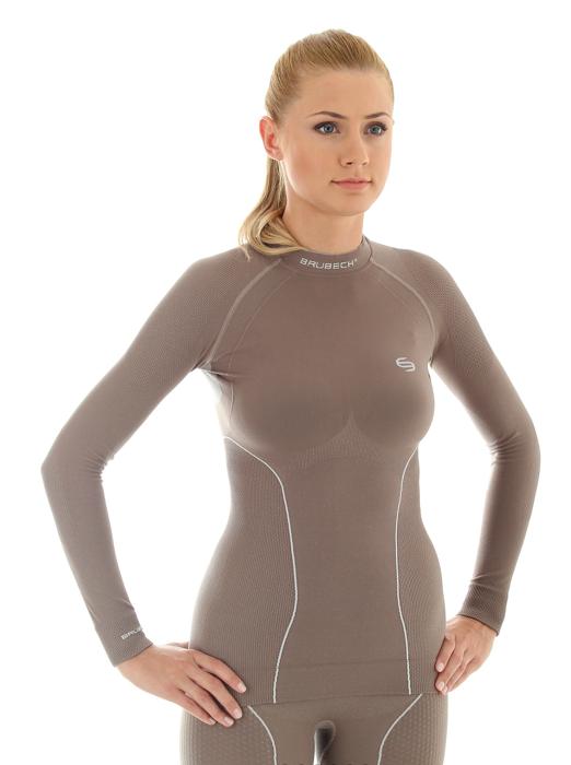 Термобелье рубашка женская Brubeck Thermo (LS10670) шоколад