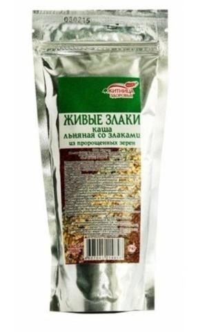 Каша льняная со злаками из пророщенных зерен, 200 гр. (Житница здоровья)