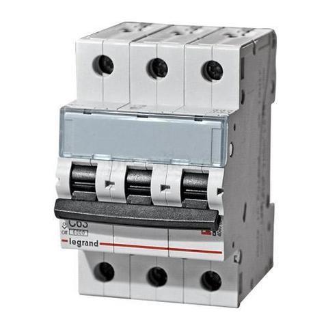 Автоматический выключатель трехполюсный TX 6000 - 6 кА - тип характеристики С - 3П - 400 В~ - 6 А - 3 модуля. Legrand (Легранд). 404053