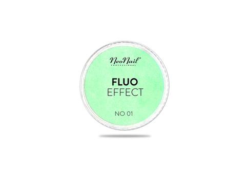 NeoNail Пудра Fluo Effect 01 - желто-зеленый