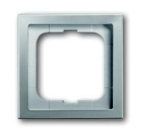 Рамка на 1 пост. Цвет Нержавеющая сталь. ABB(АББ). Pure Сталь(Пьёр Сталь). 1754-0-4500