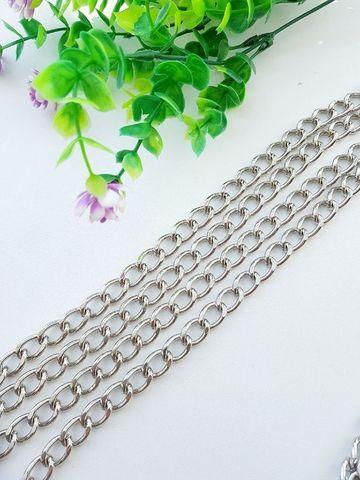 Цепь звено 11 х 16 мм , длина 120 см, цвет серебро