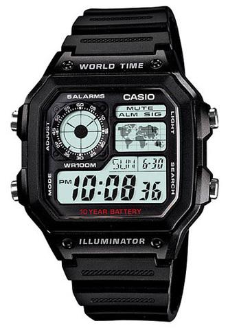 Купить Наручные часы Casio AE-1200WH-1A по доступной цене