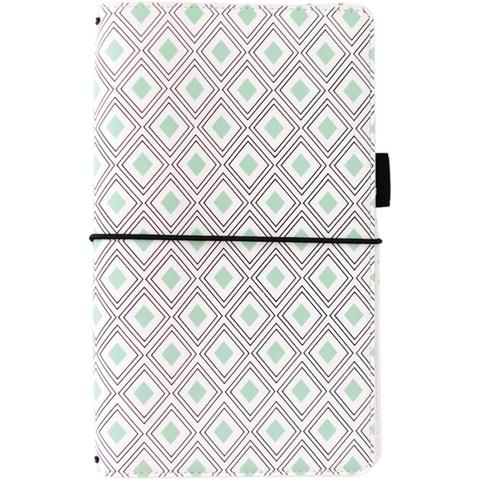 Блокнот -Freckled Fawn Pocket Traveler's Notebook  БЕЗ наполнения - Mint Diamond Geometric