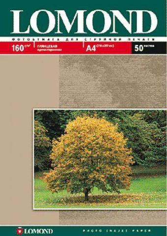 Односторонняя глянцевая фотобумага Lomond для струйной печати, A4, 160 г/м2, 50 листов (102055)