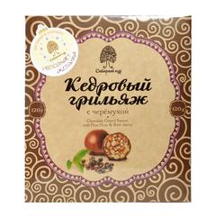 Конфеты Грильяж кедровый с черемухой в шоколадной глазури 120 гр