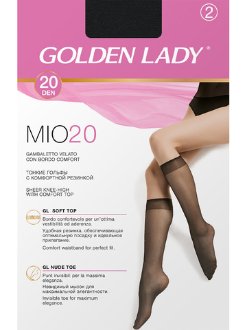 Гольфы Mio 20 (2 пары) Golden Lady