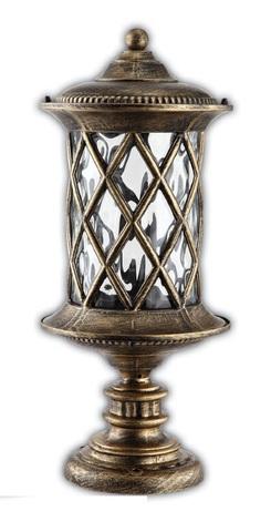 Светильник садово-парковый, 60W 220V E27 черное золото , IP44 , PL5024 (Feron)