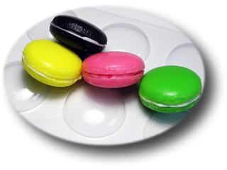 Макаронс, пластиковая форма для мыла/ шоколада