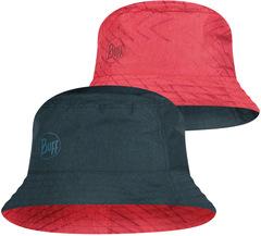 Панама двухсторонняя Buff Travel Bucket Hat Collage Red-Black