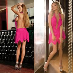 Платье с открытой спиной OPEN MIND. Розовое. CL082