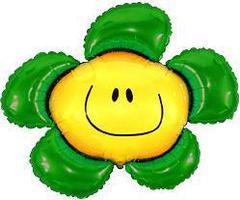 F Мини фигура Цветочек (солнечная улыбка) зелёный / Flower (14