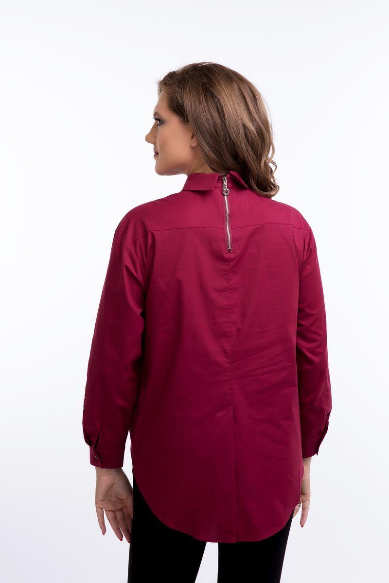 Блузка 08922 бордовый