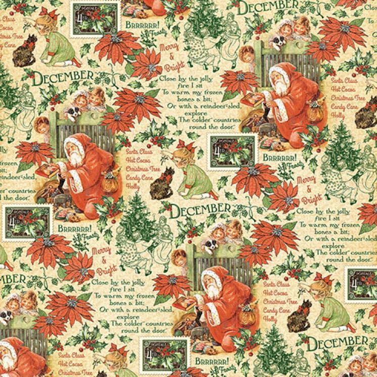 Бумага для скрапбукинга December Montage, Graphic45
