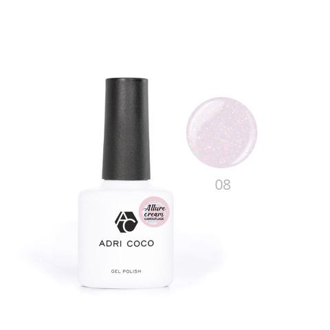 Гель-лак ADRICOCO Allure сream №08 камуфлирующий розовый с шиммером (8 мл.)