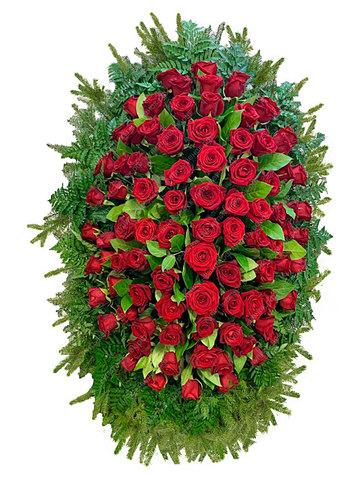 Траурный венок из живых цветов ВЖ 17