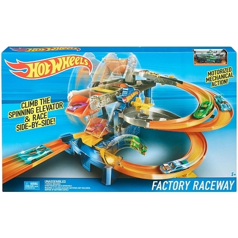 Трек Hot Wheels Гонки на фабрике Mattel FDF28