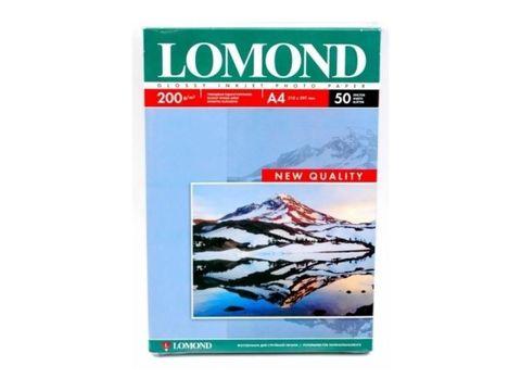 Односторонняя глянцевая фотобумага Lomond для струйной печати, A4, 200 г/м2, 50 листов (0102020)