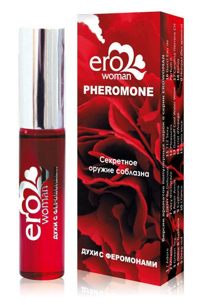 Духи и смазки для женщин: Духи женские с феромонами Erowoman №6 - 10 мл.