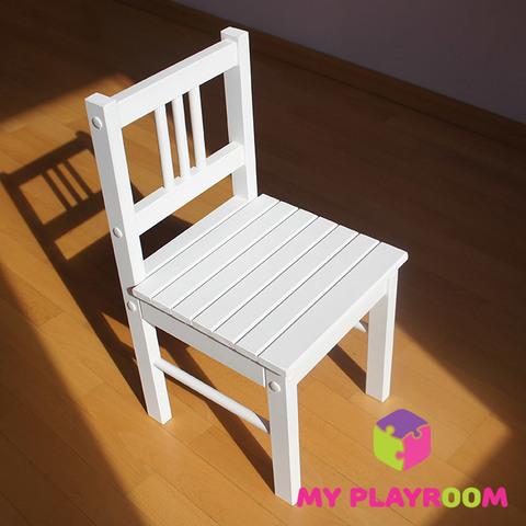 Детский деревянный стульчик, белый 2