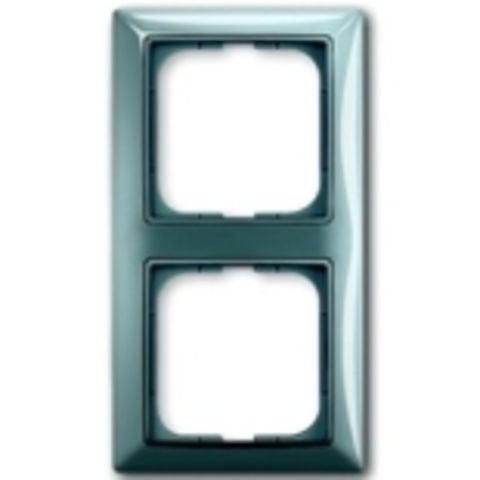 Рамка на 2 поста. Цвет синий. ABB(АББ). Basic 55(Бейсик 55). 1725-0-1522
